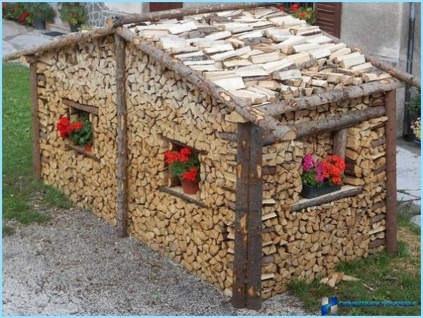 Legna da ardere polennitsa con le proprie mani con una for Tempo per costruire una casa