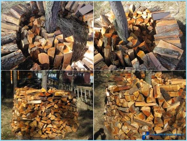 Поленница дров своими руками 638