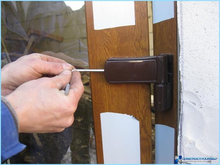 Как установить алюминиевые двери своими руками