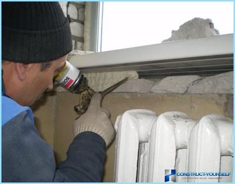 Come isolare le finestre di plastica: intradossi, davanzale della finestra