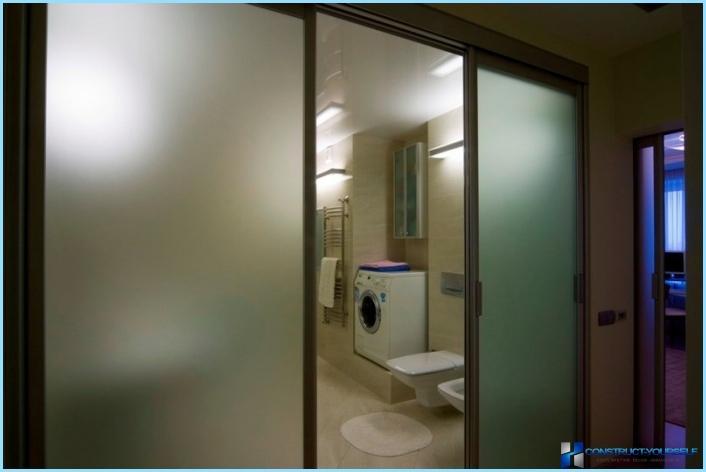 Раздвижная дверь ванной