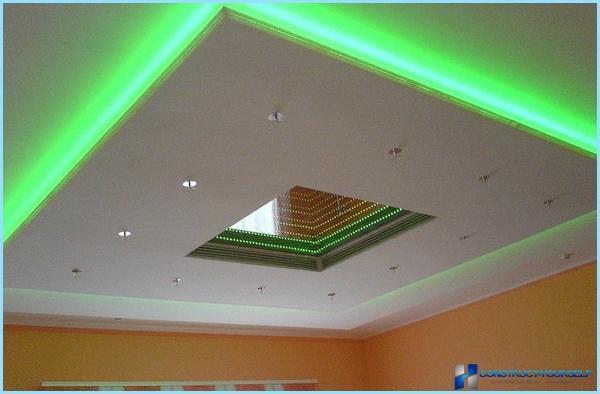 Свет на потолке своими руками