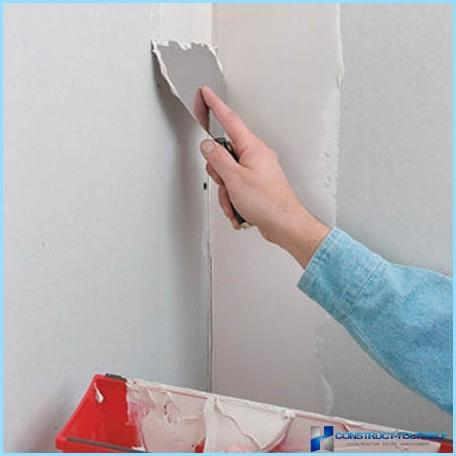 How putty drywall under the wallpaper and paint