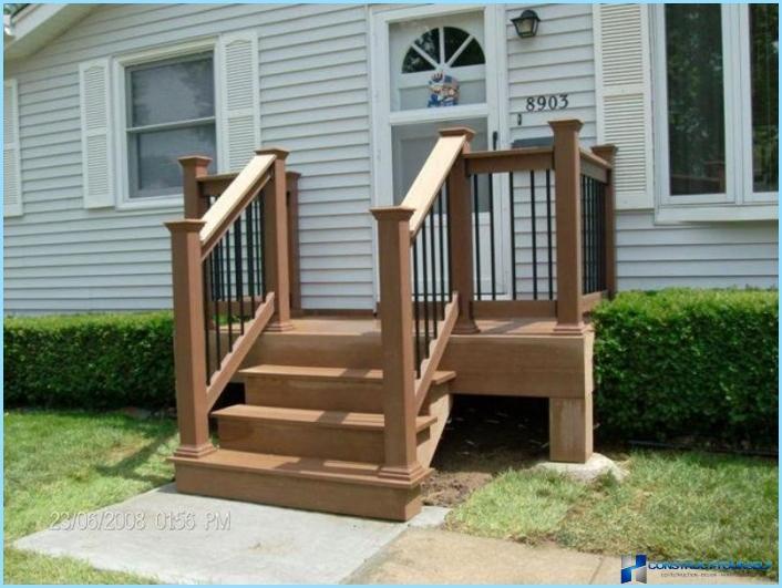 Veranda Holz holztreppen auf die veranda fotos