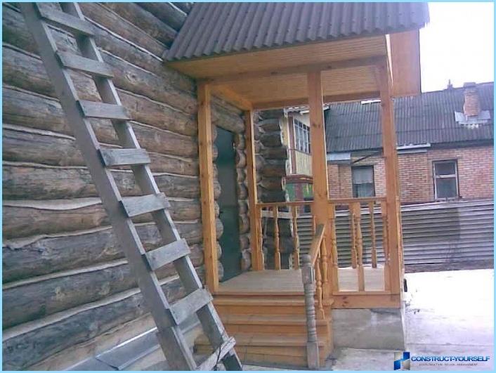 Пристроить закрытое крыльцо к деревянному дому своими руками