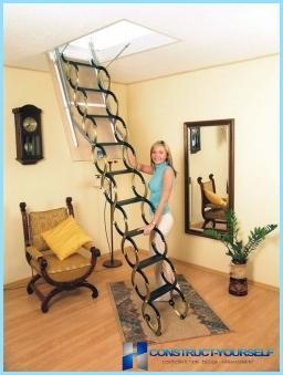Instalēšana bēniņu kāpnes ar video