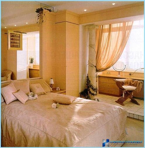 Entwerfen sie ein schlafzimmer mit loggia kombiniert fotos for Zimmer entwerfen
