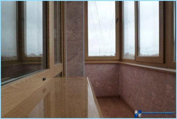 Sniegt Balkonu lodžiju: idejas un fotogrāfijas