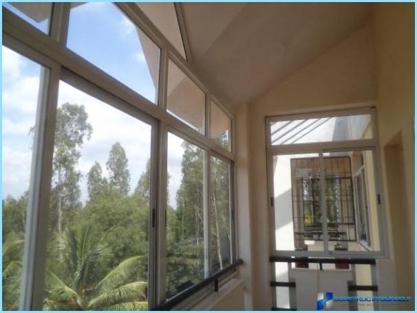 Skyve balkong vinduer