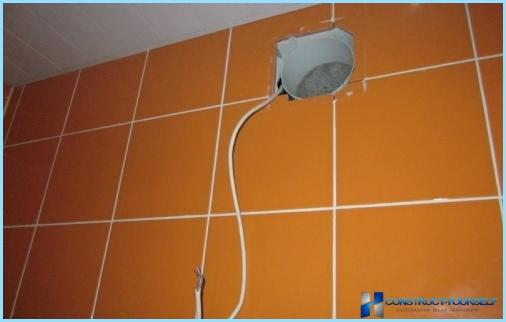 Kā uzstādīt kapuci vannas istabā, elektroinstalācijas shēma