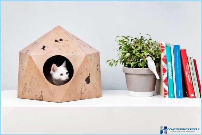 Как сделать из бумаги дом для котят