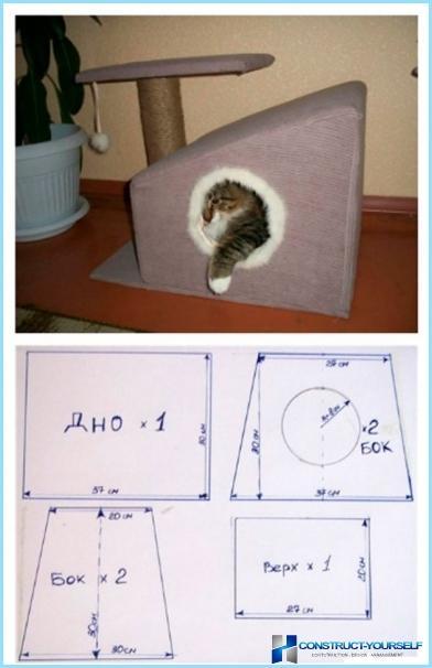 Домик для кота своими руками чертежи с размерами