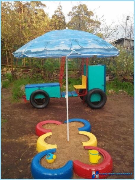 Своими руками детская площадка колеса