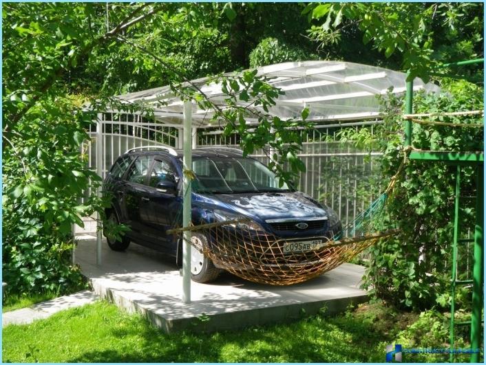 Как сделать парковку для машины на даче  769