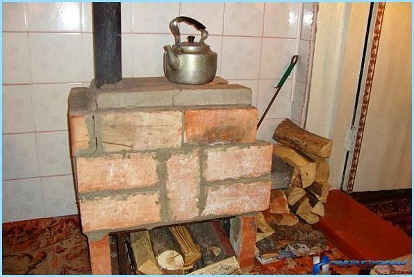 Печка своими руками из кирпича в гараж