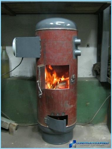 Печь для гаража из газового баллона