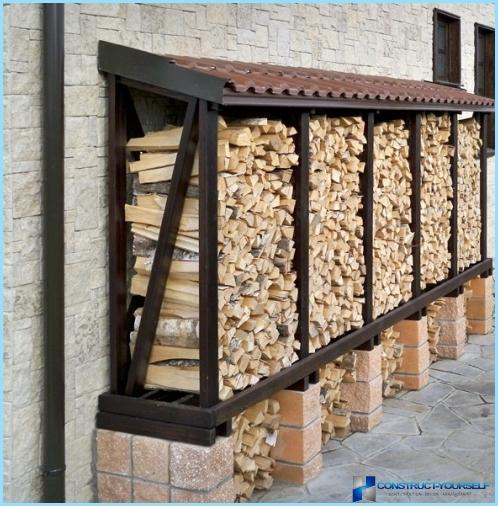 Поленница для дров своими руками 35