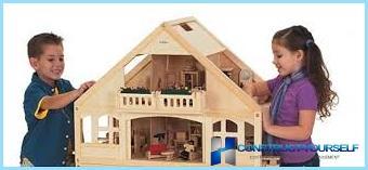 Bērnu koka māja ar rokām