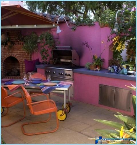 Projekti iekštelpu un āra vasaras virtuve