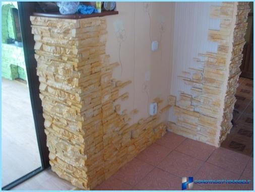 Ģipša dekoratīvie akmeņi iekšējai apdarei