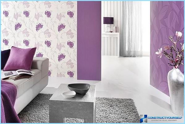 Design wallpaper for the walls with photos