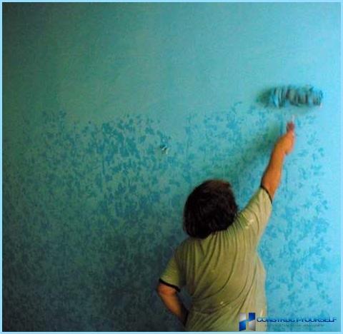 Покраска стен в квартире в спальне гостиной кухне