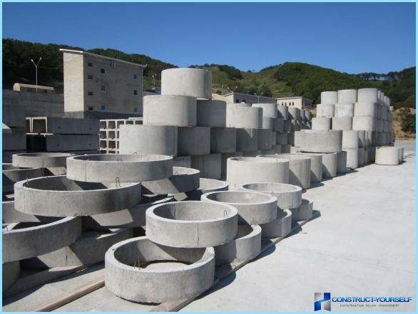 Betona gredzeni: specifikācijas, izmēri, tilpums