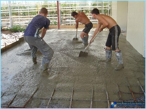 Types of concrete constructions