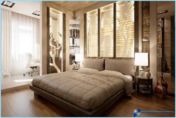 Bedroom interior in modern style