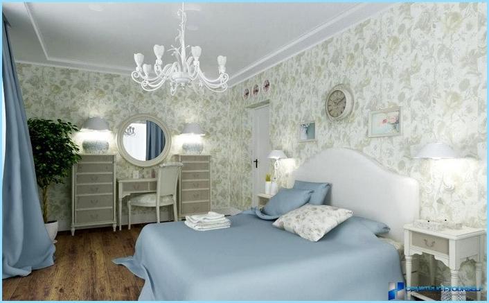 Lille soveværelse i stil med Provence