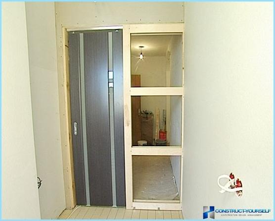 Spogulis bīdāmās durvis walk-in skapis