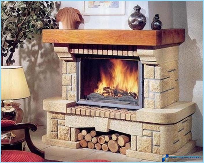 kamin cigla fotografije. Black Bedroom Furniture Sets. Home Design Ideas