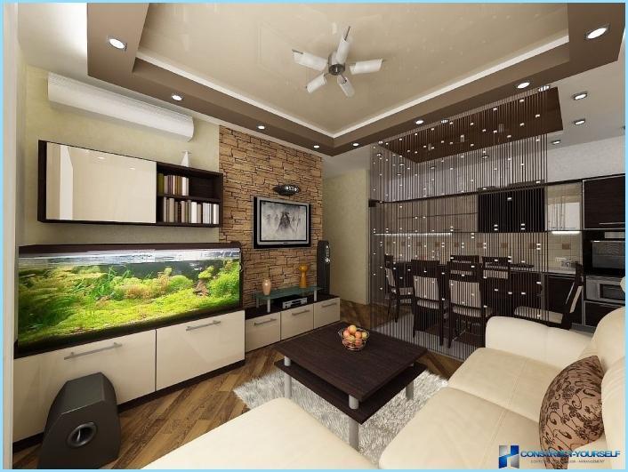 La progettazione di un soggiorno con angolo cottura 18, 20, 25 mq ...