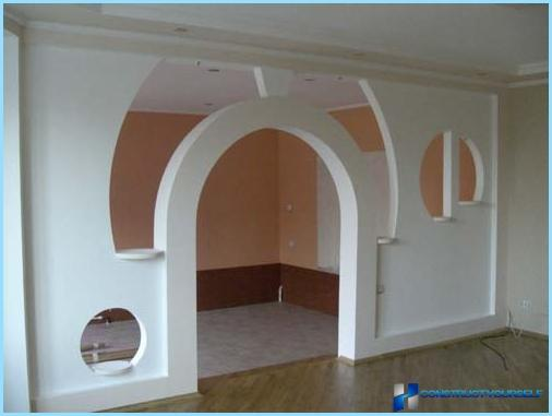 How to make an arch in the doorway