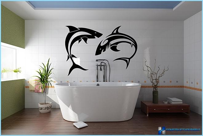 Naljepnice u kupaonici + Foto