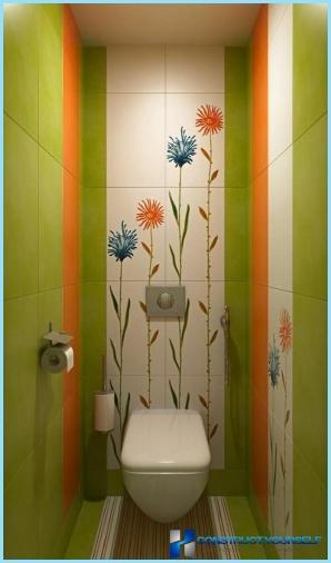 Interior toilets in the apartment