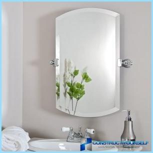 Design mirror in the bathroom