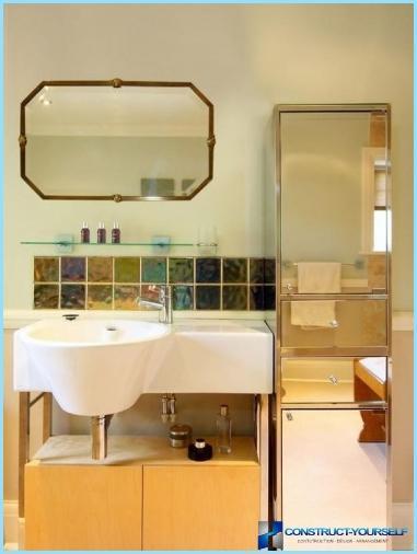 Espejo de diseño en el baño