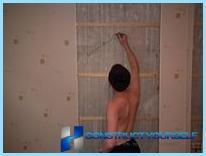 Installation of PVC panels in the bathroom with their hands