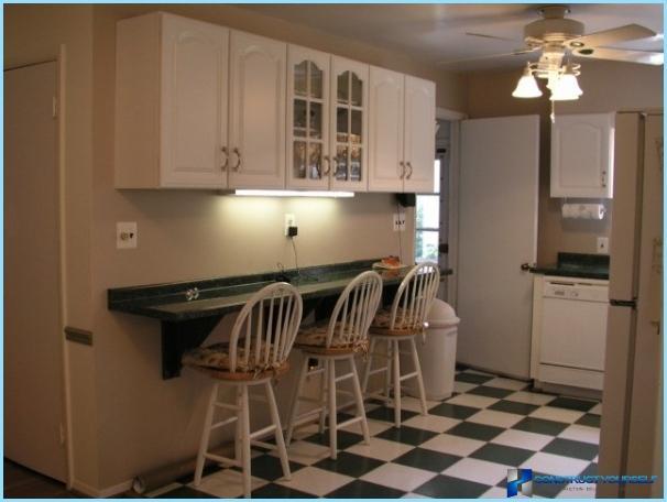 Modern ötleteket a belső tér egy kis konyha kezével + fotók