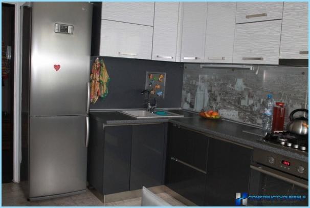 Suunnittelu kapea keittiö + kuvat