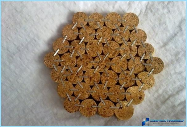Как сделать коврик из пробок шампанского своими руками 114