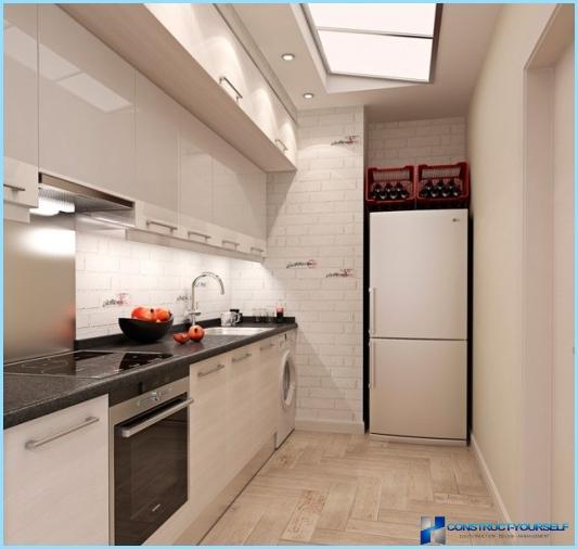 Entwerfen Sie eine kleine Küche ohne Fenster
