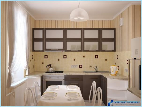 Kitchen design in a small apartment