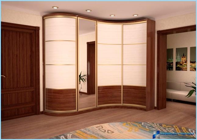 Овальные встроенные шкафы купе фото дизайн