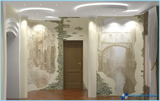 Dizains un apdare ieejas halle ar dekoratīvo akmens