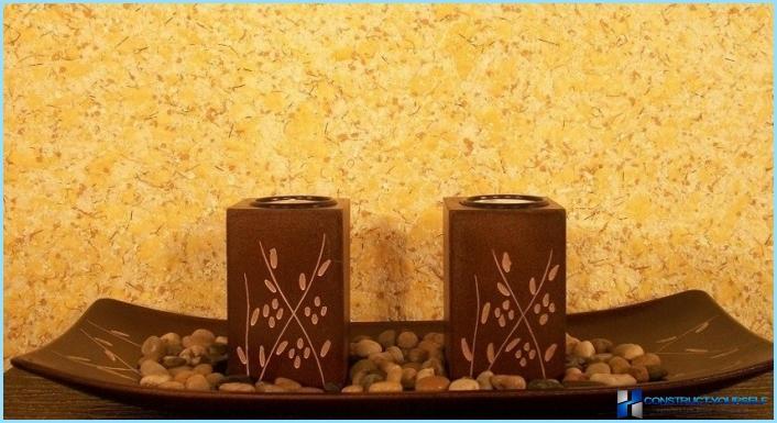 Liquid tapetes interjera priekšnams