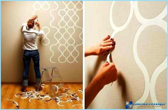 Как из обоев сделать рисунки на стену 377