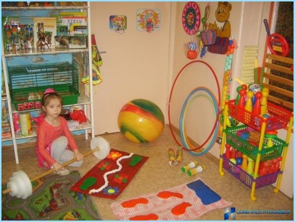 Физкультурный уголок в детском саду своим руками фото