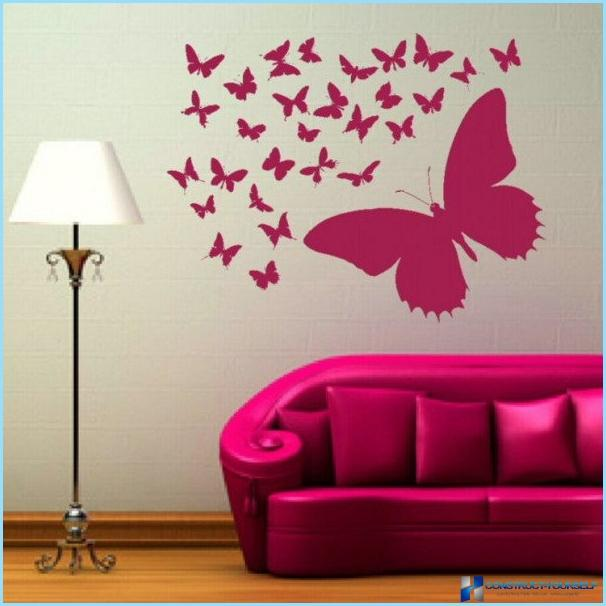 Decorative butterflies to decorate the walls